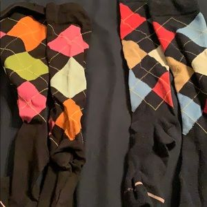 Two pairs Argyle compression socks, good condition